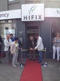 Wethouders Mevr. Diana van Dame en Dhr. J.P. Hageman zijn aanwezig tijdens onze opening.